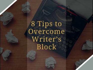 tips to overcome writer's block, overcome writer's block, writer's block,